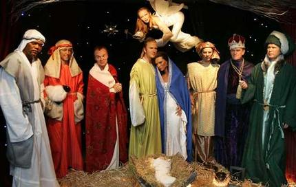 "Those are ""wise men"" George W. Bush, Tony Blair, and Prince Philip."